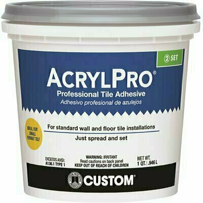 CUSTOM BUILDING PRODUCTS ACRYLPRO 1 QT. CERAMIC TILE ADHESIVE