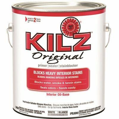 KILZ ORIGINAL 1 GAL. WHITE LOW-VOC OIL-BASED INTERIOR PRIMER, SEALER, AND STAIN BLOCKER