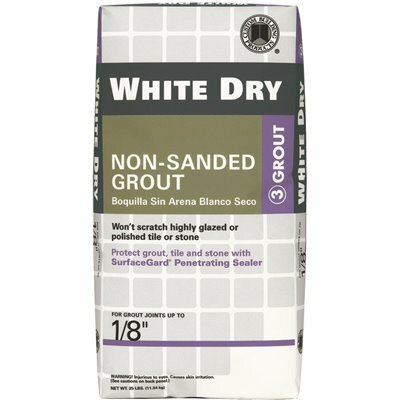 CUSTOM BUILDING PRODUCTS WHITE DRY 5 LBS. NON-SANDED GROUT