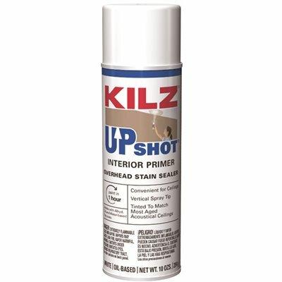 KILZ UPSHOT 10 OZ. WHITE OVERHEAD OIL-BASED INTERIOR PRIMER SPRAY STAIN SEALER AND STAIN BLOCKER