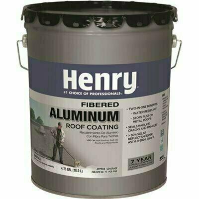 HENRY HENRY 555 PREMIUMFIBEREDALUMINUM REFLECTIVE ROOF COATING  4.75GALLON