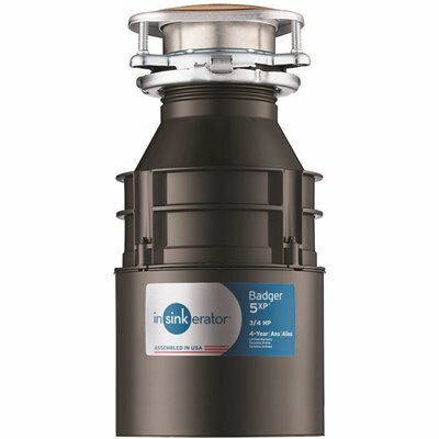 INSINKERATOR BADGER 5XP 3/4 HP CONTINUOUS FEED DISPOSER