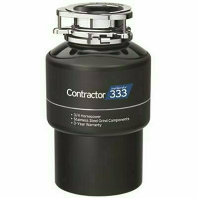 INSINKERATOR CONTRACTOR 333 3/4 HP CONTINUOUS FEED GARBAGE DISPOSAL