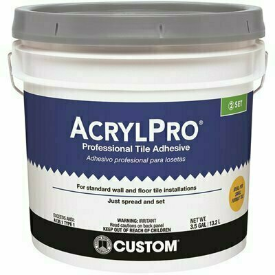 CUSTOM BUILDING PRODUCTS ACRYLPRO 3-1/2 GAL. CERAMIC TILE ADHESIVE