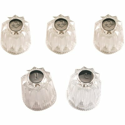 DANCO 5-PIECE HANDLE KIT IN CLEAR FOR PRICE PFISTER WINDSOR AND CONTESSA TUB/SHOWER FAUCETS