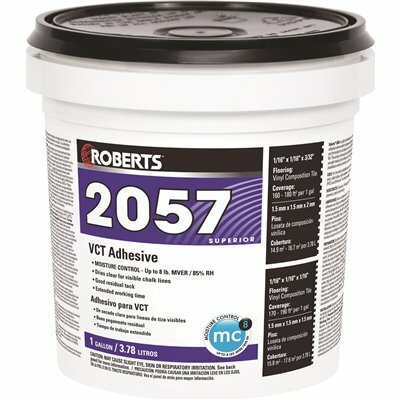 ROBERTS 2057 1 GAL. VINYL COMPOSITION TILE ADHESIVE