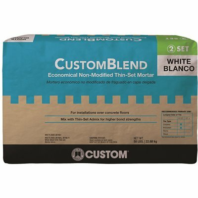 CUSTOM BUILDING PRODUCTS CUSTOMBLEND 50 LBS. WHITE STANDARD THINSET MORTAR