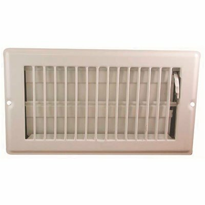 DANCO 8 IN. X 4 IN. WHITE STEEL FLOOR REGISTER WITH 7/8 IN. DROP