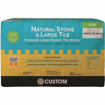 CUSTOM BUILDING PRODUCTS NATURAL STONE AND LARGE TILE 50 LBS. WHITE PREMIUM MORTAR