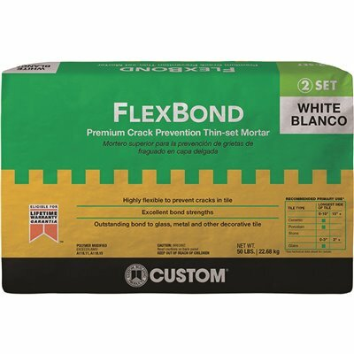 CUSTOM BUILDING PRODUCTS FLEXBOND WHITE 50 LBS. CRACK PREVENTION MORTAR