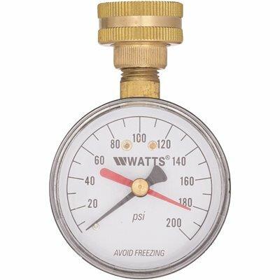 WATTS 3/4 IN. PLASTIC WATER PRESSURE TEST GAUGE