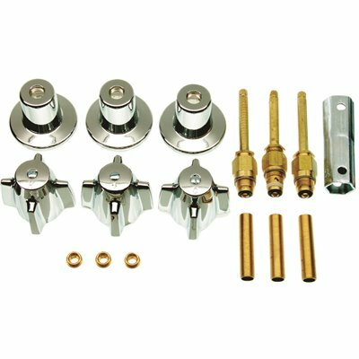 DANCO CENTRAL BRASS 3-HANDLE TUB AND SHOWER FAUCET TRIM KIT IN CHROME (VALVE NOT INCLUDED)