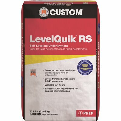 CUSTOM BUILDING PRODUCTS LEVELQUIK RS 50 LBS. SELF-LEVELING UNDERLAYMENT
