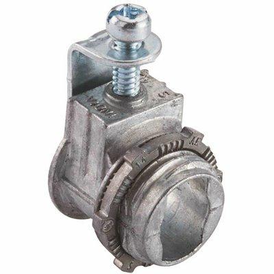 HALEX 3/8 IN. FLEXIBLE METAL CONDUIT (FMC) SADDLE CONNECTORS (5-PACK)