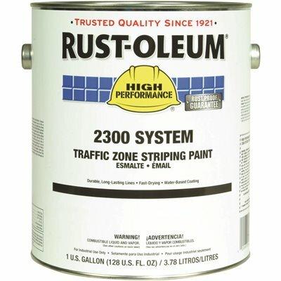 RUST-OLEUM 5 GAL. YELLOW TRAFFIC BRUSH-ON PAINT