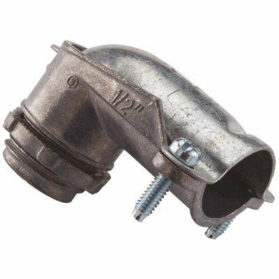 HALEX 3/8 IN. 90-DEGREE FLEXIBLE METAL CONDUIT (FMC) CONNECTOR