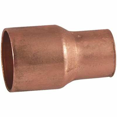 EVERBILT 1-1/4 IN. X 1 IN. COPPER PRESSURE C X C REDUCING COUPLING FITTING WITH STOP