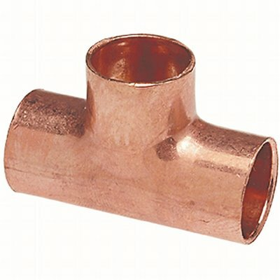 EVERBILT 1-1/4 IN. COPPER PRESSURE CUP X CUP X CUP TEE FITTING