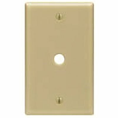 LEVITON BEIGE 1-GANG PHONE JACK WALL PLATE (1-PACK)