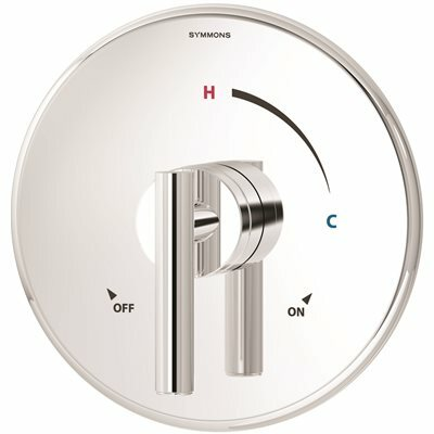 SYMMONS DIA 1-HANDLE SHOWER VALVE TRIM KIT IN POLISHED CHROME (VALVE NOT INCLUDED) - SYMMONS PART #: 3500-CYL-TRM