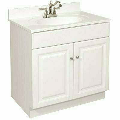 DESIGN HOUSE WYNDHAM READY TO ASSEMBLE 30 IN. W X 31-1/2 IN. D X 21 IN. H 2-DOOR IN WHITE BATH VANITY CABINET ONLY