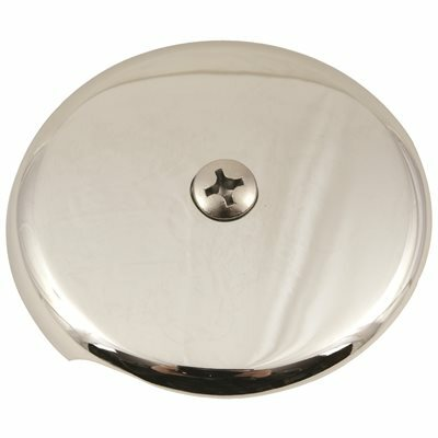 PROPLUS 1-HOLE BATHTUB FACEPLATE WITH BOLTS, CHROME-PLATED