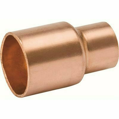 MUELLER STREAMLINE 1/4 IN. X 1/8 IN. COPPER REDUCING COUPLING WITH STOP