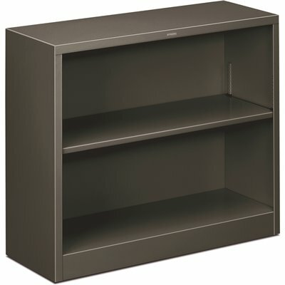 HON 34-1/2 IN. W X 12-5/8 IN. D X 29 IN. H CHARCOAL 2-SHELVES METAL BOOKCASE
