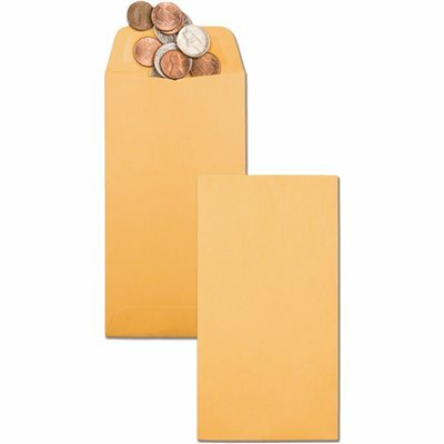 QUALITY PARK #7 KRAFT COIN AND SMALL PARTS ENVELOPE SIDE SEAM, LIGHT BROWN (500/BOX)