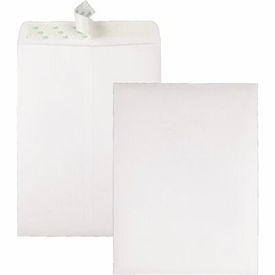 QUALITY PARK 9 IN. X 12 IN. REDI STRIP CATALOG ENVELOPE, WHITE (100/BOX)