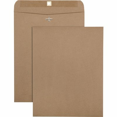 QUALITY PARK 10 IN. X 13 IN., 100% RECYCLED BROWN KRAFT CLASP ENVELOPE, LIGHT BROWN (100-PACK)