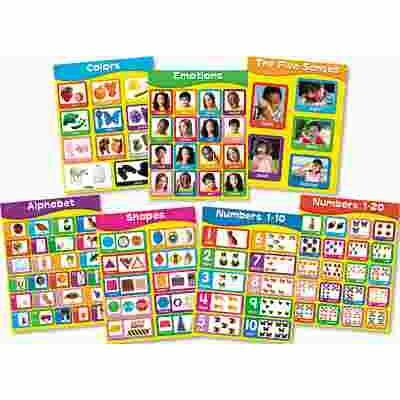 CARSON-DELLOSA PUBLISHING CHARTLET SET, EARLY LEARNING, 17 IN. X 22 IN., 1 SET