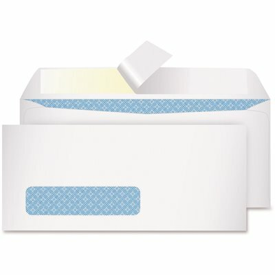 QUALITY PARK #10 REDI-STRIP SECURITY TINTED WINDOW ENVELOPE CONTEMPORARY, WHITE (500/BOX)