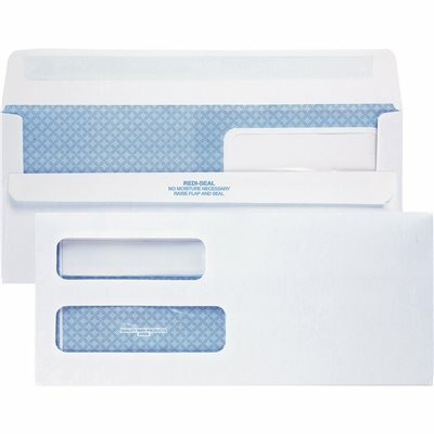 QUALITY PARK #10 4-1/8 IN. X 9-1/2 IN. REDI-SEAL ENVELOPES DOUBLE WINDOW