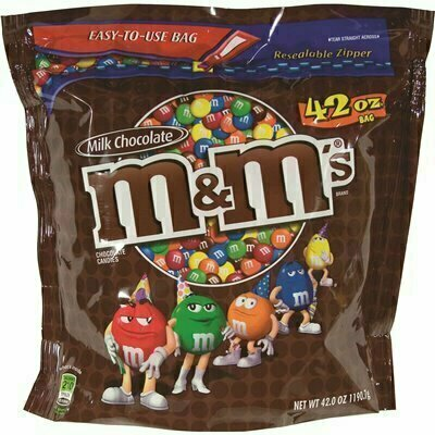 M&M'S 42 OZ. MILK CHOCOLATE WITH CANDY COATING BAG