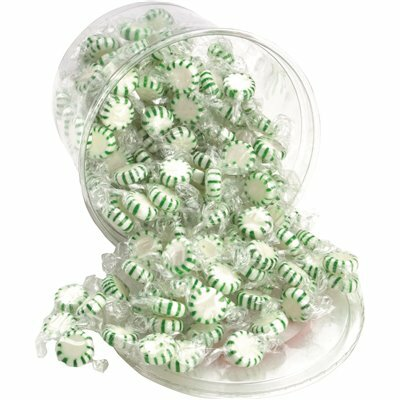 OFFICE SNAX 2 LBS. TUB STARLIGHT MINTS, SPEARMINT HARD CANDY INDIVIDUALLY WRAPPED