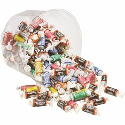OFFICE SNAX ASSORTED FLAVOR TOOTSIE ROLL (28 OZ. BOWL, 9 BOWLS/CARTON)