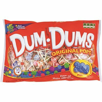 DUM DUM POPS POPS SUCKERS ASSORTED FLAVORS INDIVIDUALLY WRAPPED (300-PACK)