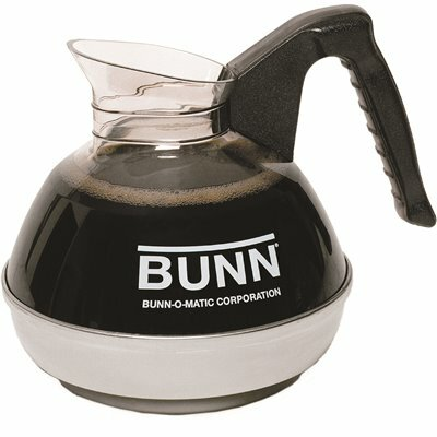 BUNN 12-CUP BLACK EASY POUR COMMERCIAL REGULAR COFFEE DECANTER