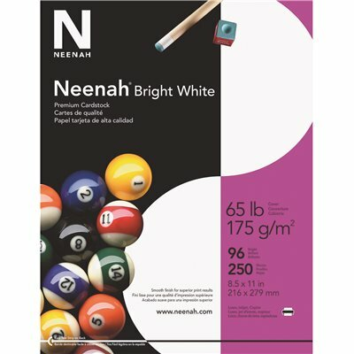 NEENAH 8-1/2 IN. X 11 IN. 65 LBS. BRIGHT WHITE CARD STOCK (250 SHEETS/PACK)