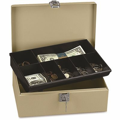 PM SECURITY LOCK AND LATCH STEEL CASH BOX