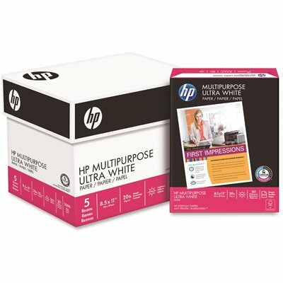 HP MULTIPURPOSE PAPER, 96 BRIGHT, 20 LBS. LETTER, WHITE (2500 SHEETS/CARTON)
