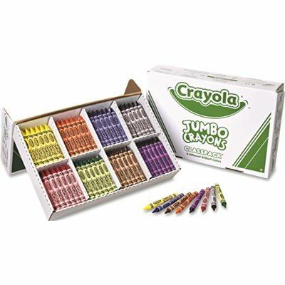 BINNEY & SMITH / CRAYOLA CRAYOLA JUMBO CLASSPACK CRAYONS, 25 EACH OF 8 COLORS, 200/BOX