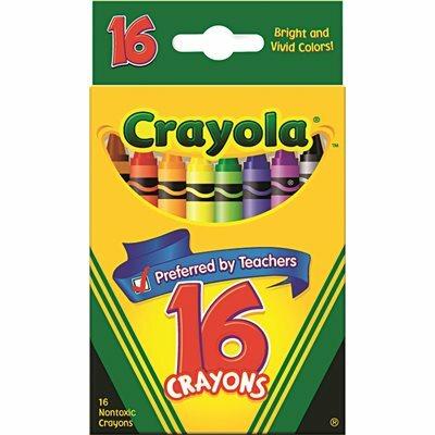 BINNEY & SMITH / CRAYOLA CRAYOLA CLASSIC COLOR PACK CRAYONS, 16 COLORS/BOX