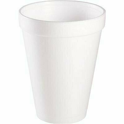 DART 12 OZ. WHITE DRINK CUPS (1,000 PER CARTON)