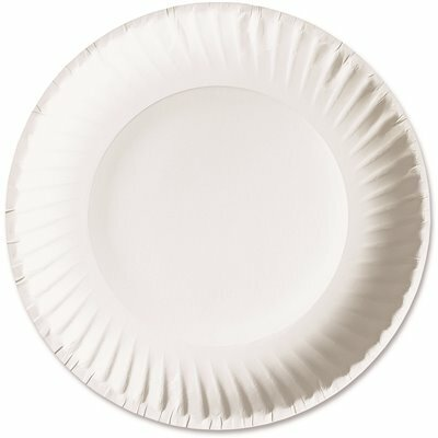AJM PACKAGING GREEN LABEL ECONOMY PAPER PLATES