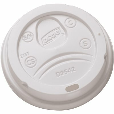 DIXIE LARGE WHITE DOME PLASTIC HOT CUP LID (10 SLEEVES AT 50-COUNT)