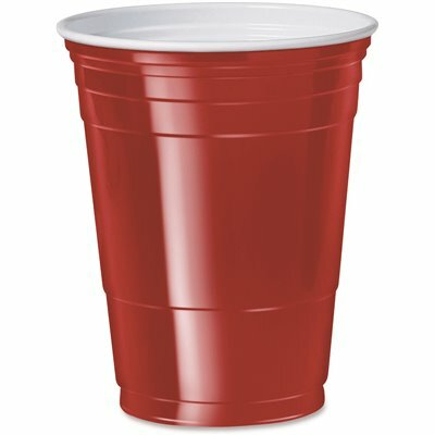 SOLO 16 OZ. RED PLASTIC PARTY COLD DRINK CUPS (50 PER PACK)