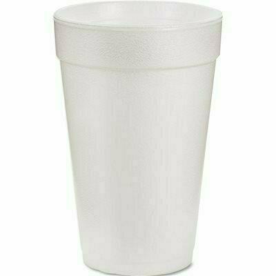 AMREP J-STYLE WHITE STYROFOAM 16 OZ. CUPS (1000-PACK)