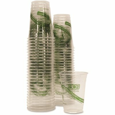 ECO-PRODUCTS 16 OZ. CLEAR COMPOSTABLE COLD DRINK CUPS (50 PER PACK)